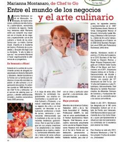 Marianna Montanaro,de Chef to Go, entre el mundo de los negocios y el arte culinary