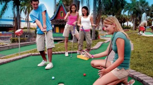The world celebrates the sport of miniature golf.
