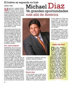 Michael Diaz ve grandes oportunidades más allá de América