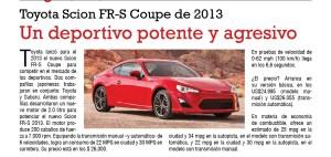 Toyota Scion FR-S Coupe de 2013