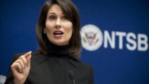 En la imagen, la directora del Consejo Nacional de Seguridad en el Transporte (NTSB, en inglés), Deborah Hersman. EFE/Archivo