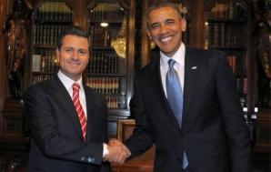 Peña Nieto recibió a Barack Obama en Palacio Nacional.