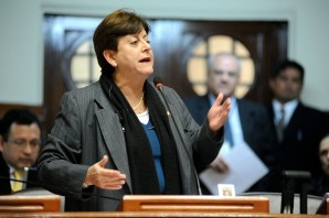 Diputada Lourdes Alcorta, vicepresidente de la comisión de Relaciones Exteriores del gobierno peruano