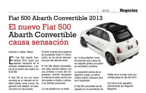 Fiat 500 Abarth convertible