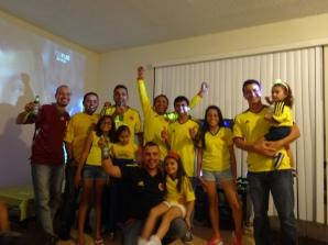 Los hinchas colombianos festejaron el empate como un triunfo.