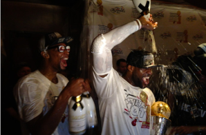 LeBron James, con un gran festejo. Foto: NBA