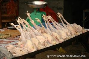 El hallazgo tuvo lugar en la ciudad de Nanning, sur de China, donde se secuestraron 20 toneladas de patas de pollo congeladas en mal estado.