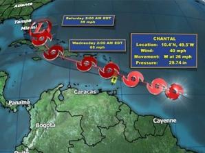 La tormenta llegará a Puerto Rico esta noche 9 de julio y el miércoles afectará ya a la República Dominicana y a Haití.
