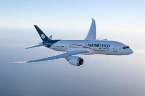 """El 787 Dreamliner llevará a Aeroméxico a nuevos estándares de eficiencia y desempeño, además de ofrecer un nivel de confort y beneficio mejorado para los pasajeros de Aeroméxico""""."""