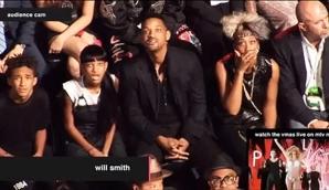 Jaden, Willow y Will Smith quedaron asombrados ante la atrevida Miley Cyrus