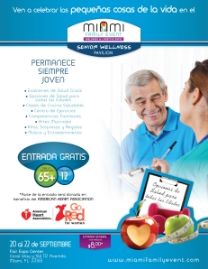 """Miami Family Event Wellness & Lifestyle Expo"" que se celebrará en el Fair & Expo del 20 de septiembre al 22 de 2013."