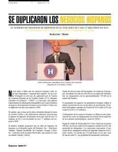 SE DUPLICARON LOS NEGOCIOS HISPANOS