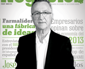 """FARMALIDER"" the cover of Negocios magazine."