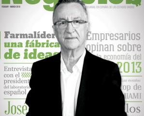 """""""FARMALIDER"""" the cover of Negocios magazine."""