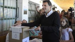 Sergio Massa, alcalde de Tigre y candidato del partido Frente Renovador.