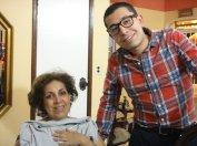 Hilda Romero y su hijo el abogado Santiago Espinosa.