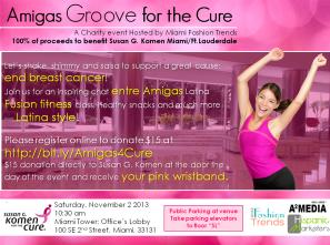 Fiesta con ritmo latino para el bienestar y la salud para recaudar fondos para la lucha contra el cáncer