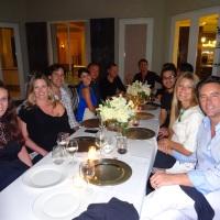 Edward de Valle II realizó una cena privada en su casa con invitados de lujo