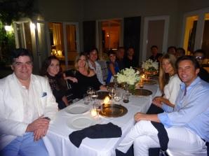 La cena de realizó en la noche del viernes pasado en la espectacular casa que Edward de Valle II posee en la zona histórica de Brickell.