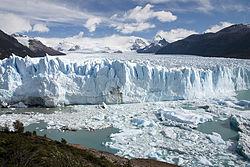 El glaciar Perito Moreno, Argentina. Uno de los glaciares más visitados a nivel global. Declarado Patrimonio de la Humanidad por la Unesco en 1981.