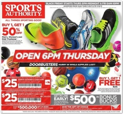 BLACK FRIDAY sports authority 2013