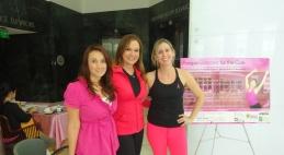 Karen Blanco ,Cecilia Ramírez Harris y Aileen Abella.