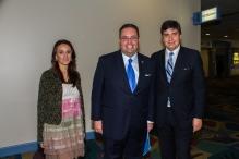 Karen Blanco, Mario Murgado, show chairman del Miami International Auto Show 2013.