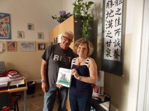 La Doctora Laura Giolli y el Profesor Mario Navarrete Niño