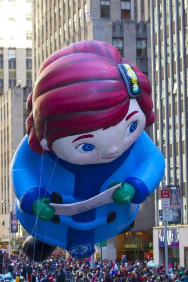 The Yes Virginia balloon floats in the 87th Macy's Thanksgiving Day Parade in New York in New York, Thursday,