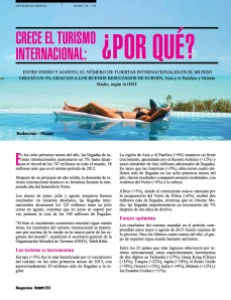 CRECE EL TURISMO INTERNACIONAL-