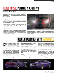 DODGE CHALLENGER SRT8- IMPARABLE