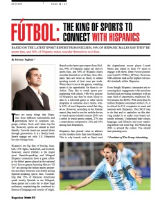FÚTBOL-   THE KING OF SPORTS TO CONNECT WITH HISPANICS