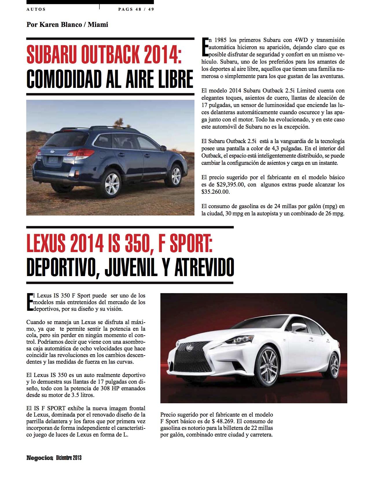 lexus 2014 is 350 f sport deportivo juvenil y atrevido negocios magazine. Black Bedroom Furniture Sets. Home Design Ideas