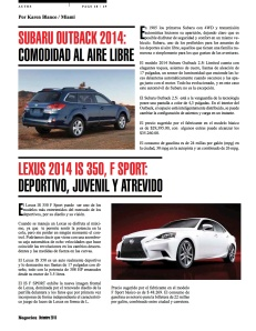 LEXUS 2014 IS 350, F SPORT-