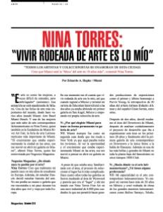 NINA TORRES arte