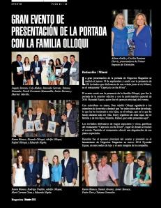 GRAN EVENTO DE PRESENTACIÓN DE LA PORTADA CON LA FAMILIA OLLOQUI