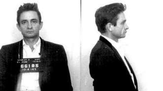 Johnny Cash. Detenido por tenencia de drogas.