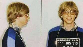 Bill Gates. Detenido en 1977 en Albuquerque por una infracción de tránsito.