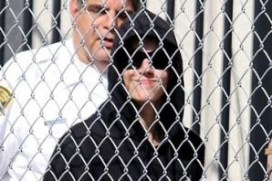 Justin Bieber tras ser arrestado.