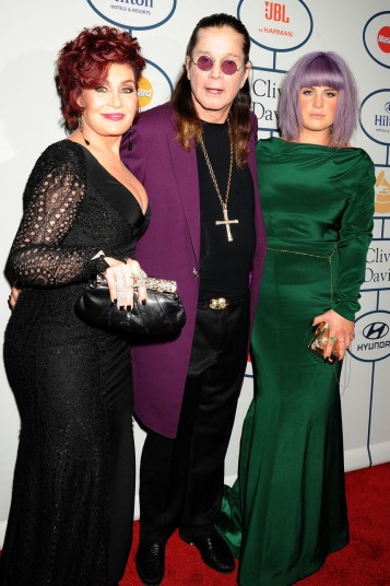 Sharon, Ozzy and Kelly Osbourne.