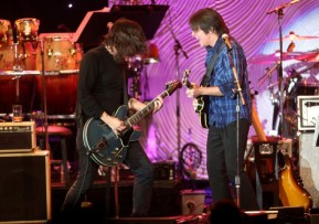 Dave Grohl of Foo Fighters joined John Fogerty.