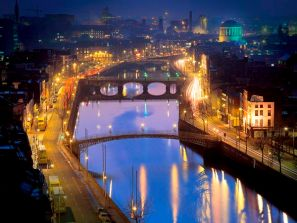 Irlanda  identificada por el color verde, es conocida como el país esmeralda.